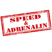 Speed & Adrenalin-stamp — Stock Vector