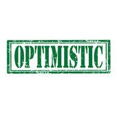 Optimistic-stamp — Stock Vector