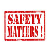 Safety Matters-stamp — Stock Vector