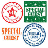 Special Guest-stamps — Stock Vector