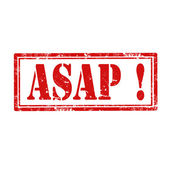 ASAP!-stamp — Stock Vector