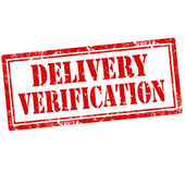 Delivery Verification-stamp — Stock Vector