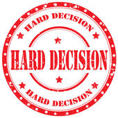 Hard Decision-stamp — Stock Vector