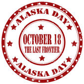 Alaska Day-stamp — Stock Vector