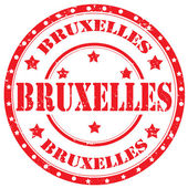 Brussels-stamp — Vector de stock