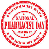 Pharmacist Day-stamp — Vector de stock