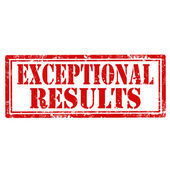 Exceptional Results-stamp — Stock Vector