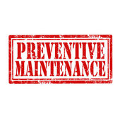 Preventive Maintenance-stamp — Stock Vector