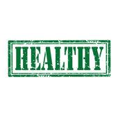 Healthy-stamp — Stock Vector