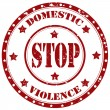 Stop Domestic Violence-stamp — Stock Vector