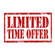 Limited Time Offer-stamp — Vecteur
