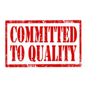 Committed To Quality-stamp — Stock Vector