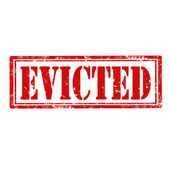 Evicted-stamp — Stock Vector