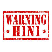 Warning H1 N1-stamp — Stock Vector