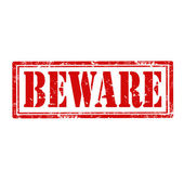 Beware-stamp — Stock Vector