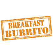 Breakfast Burrito-stamp — Stock Vector