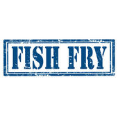 Fish Fry-stamp — Stock Vector