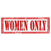 Women Only-stamp — Stock Vector