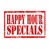 Happy Hour-stamp — Stock Vector