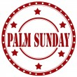 Palm Sunday-stamp — Stock Vector
