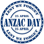 Anzac Day-stamp — Stock Vector