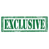 Excusive-stamp — Stock Vector