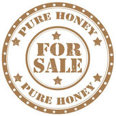 Pure Honey-stamp — Stock Vector