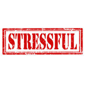 Stressful-stamp — Stock Vector