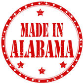 Made In Alabama-stamp — Stock Vector