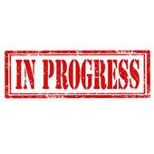 In Progress-stamp — Stock Vector