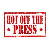 Hot Of The Press-stamp — Vecteur