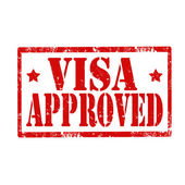 Visa Approved-stamp — Stockvector
