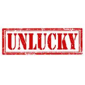 Unlucky-stamp — Stock Vector