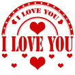 I Love You-stamp — Stock Vector #44787035