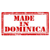Made In Dominica-stamp — Stock Vector