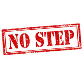 No Step-stamp — Stock Vector