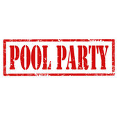 Pool Party-stamp — Stock Vector