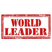 World Leader-stamp — Stock Vector