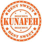 Kunafeh-stamp — Stok Vektör
