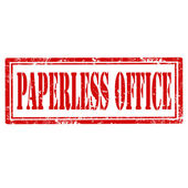 Paperless Office-stamp — Stock Vector