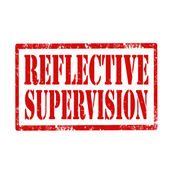 Reflective Supervision-stamp — Stock Vector