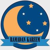 Ramadan Kareem-label — Stock Vector