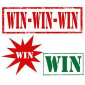Win-stamps — Stockvektor