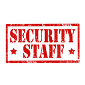 Security Staff-stamp — Stock Vector