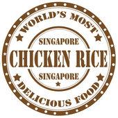Kyckling ris-stämpel — Stockvektor