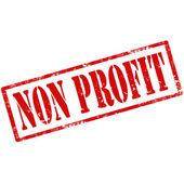 Non Profit-stamp — Cтоковый вектор