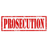Prosecution-stamp — Stock Vector