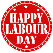 Happy Labour Day-label — Stock Vector