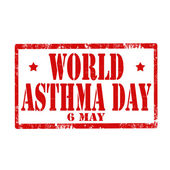 World Asthma Day-stamp — Vetorial Stock