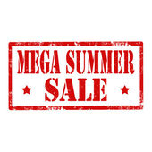 Mega Summer Sale-stamp — Stock Vector